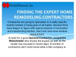 Finding The Expert Home Remodeling Contractors