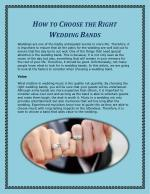 How to Choose the Right Wedding Bands