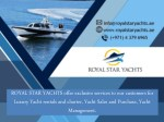 Yacht Rental Dubai - Stress Free and a Fun Filled Trip