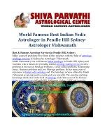 Famous Astrologer in Sydney – Indian Pandit For Astrology Readings In Pendle Hill, Sydney