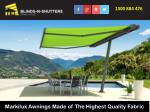 Markilux Awnings Made of The Highest Quality Fabric