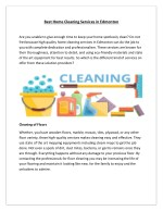 Best Home Cleaning Services in Edmonton
