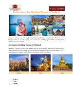 Looking For a Top Wedding Planner in Thailand