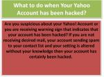 What to do when Your Yahoo Account has been hacked?