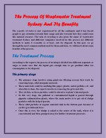 The Process Of Wastewater Treatment Sydney And Its Benefits