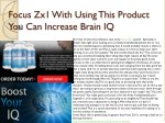 Focus Zx1 With Using This Product You Can Increase Brain IQ