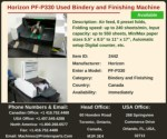 Buy Used Horizon PF-P330 Bindery and Finishing Machine