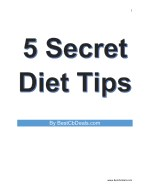 5 Secret Diet Tips