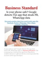 Is your phone safe? Google detects Tizi app that steals FB, WhatsApp data