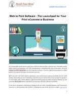 Web to Print Software - The Launchpad for Your Print eCommerce Business