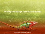 Printing And Design Services In Australia