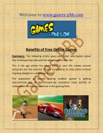 Play Free Online Games with www.games-pbb.com