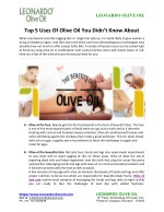 Top 5 Uses Of Olive Oil You Didn't Know About
