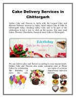 Cake Delivery Services in Chittorgarh