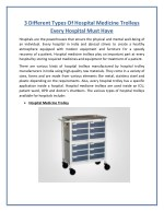 Stainless Steel Hospital Trolley is Best for Long Term Use