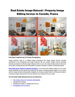 Real Estate Photo Retouch | Property Photo Editing Services to Canada, France