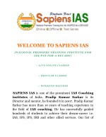 UPSC Anthropology Optional Coaching for Civil Services IAS Exam | Sapiens IAS