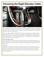 Choosing the Right Elevator Cable