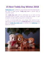 15 best Teddy Day wishes 2018