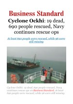 Cyclone Ockhi: 19 dead, 690 people rescued, Navy continues rescue ops