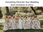 Trending Floral wedding inspiration-2018