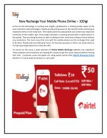 Now Recharge Your Mobile Phone Online – 10 Digi