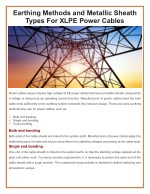 Earthing Methods and Metallic Sheath Types For XLPE Power Cables