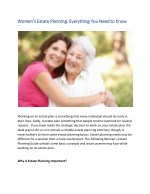 Women's Estate Planning: Everything You Need to Know