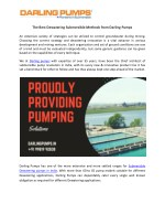 The Best Dewatering Submersible Methods From Darling Pumps