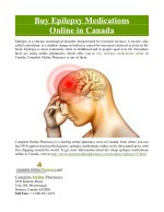 Buy Epilepsy Medications Online in Canada