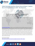 Automotive Air Filters Industry Research Report
