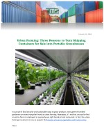 Urban Farming: Three Reasons to Turn Shipping Containers for Sale into Portable Greenhouses