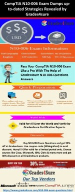 Pass Your CompTIA Network  Exam with Grades4sure N10-006 Exam Dumps