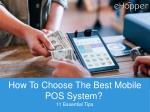 How To Choose The Best Mobile POS System?