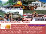 Chardham Temple Tour Packages