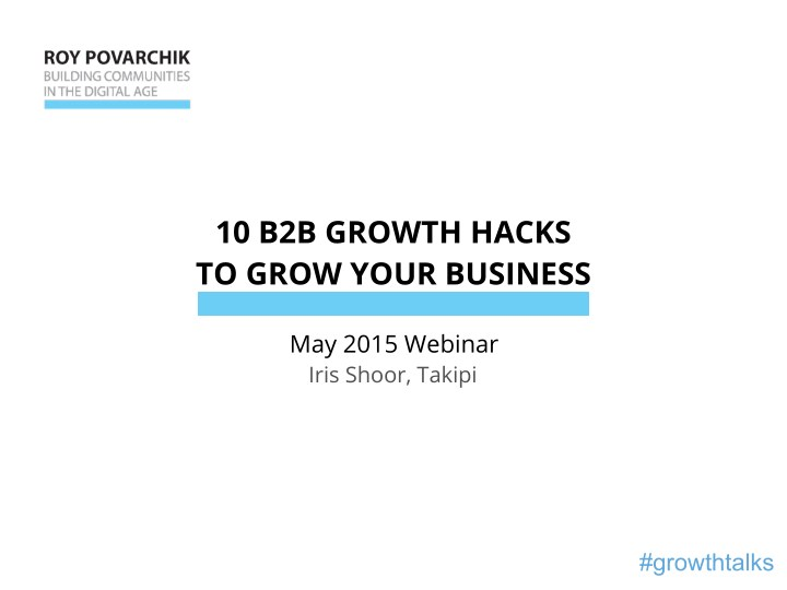 10 b2b growth hacks to grow your business n.