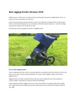 Best Jogging Stroller Reviews 2018