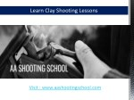 Clay Shooting Lessons from AA Shooting School,UK