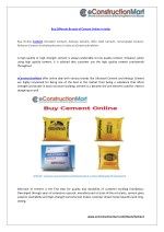 Buy Different Brands of Cement Online in India