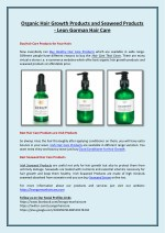 Organic Hair Growth Products and Seaweed Products - Leon Gorman Hair Care