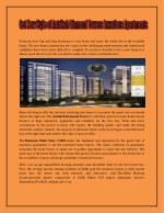 Get New Style of Antriksh Diamond Towers Luxurious Apartments