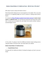 Modern Bread Maker Vs Traditional Oven - Which One Is The Best?