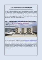 CCP HVAC Offers Refrigeration Equipment Services And More