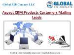 Aspect CRM Product Customers Mailing Leads