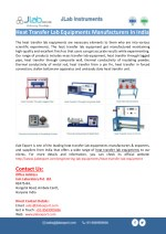 Heat Transfer Lab Equipments Manufacturers