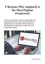 9 Reasons Why AngularJs is the Most Popular Framework