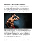 Best Muscle Supplement 2018- Necessary for Muscle Building Process