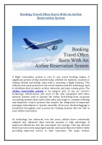 Booking Travel Often Starts With An Airline Reservation System