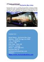 Bus Pass, Routes and Times in Winnipeg by Exclusive Bus Lines