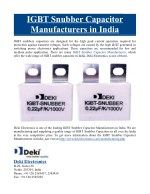 IGBT Snubber Capacitor Manufacturers in India